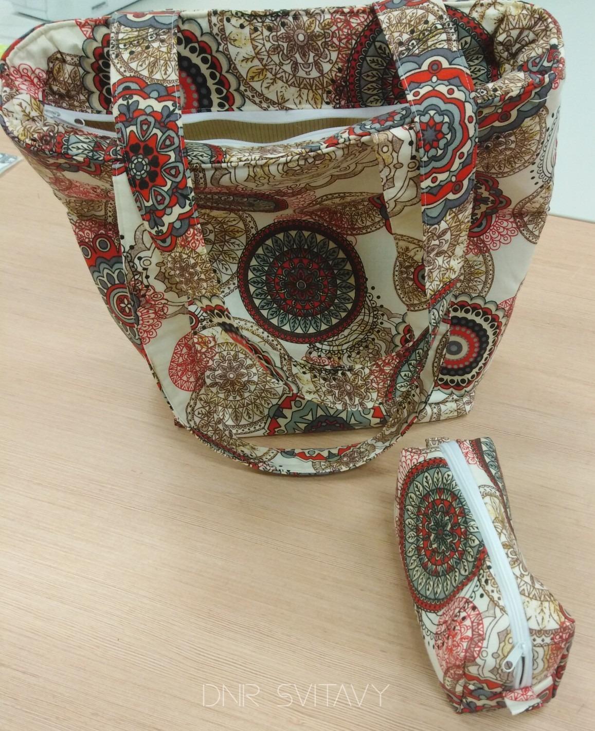 Set velká kabelka a kosmetická taštička